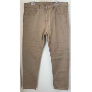 Levi's 505 khaki /tan jeans 36x32